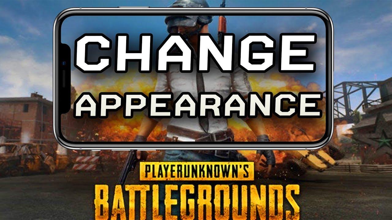 pubg change appearance