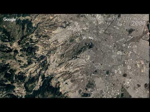 Google Timelapse: Santa Fe, Mexico City, Mexico