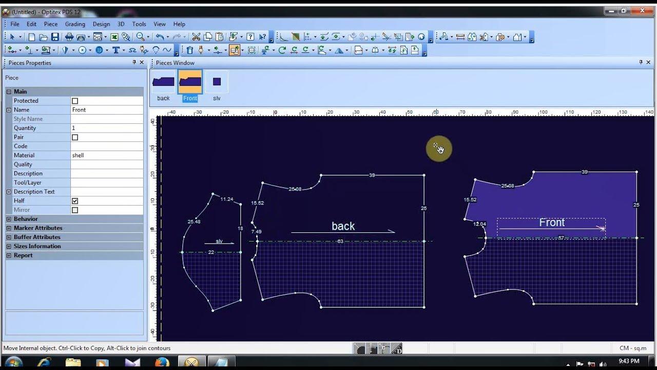 Optitex T Shirt Tutorial   T Shirt Design   How to make T Shirt   Optitex  Software Tutorial
