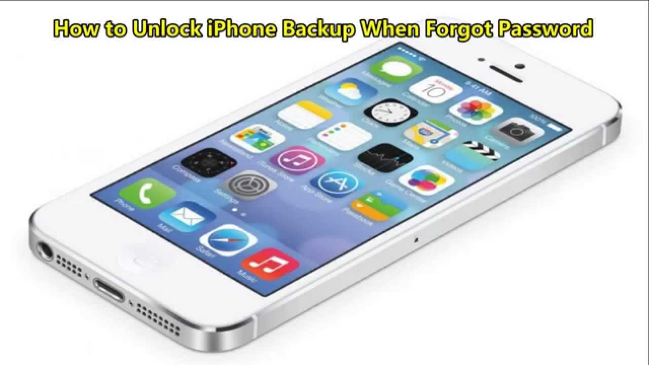 how to set iphone back up password