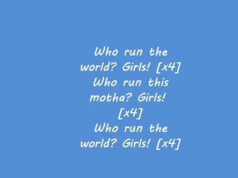 Beyoncé Run The World Girls clean lyrics