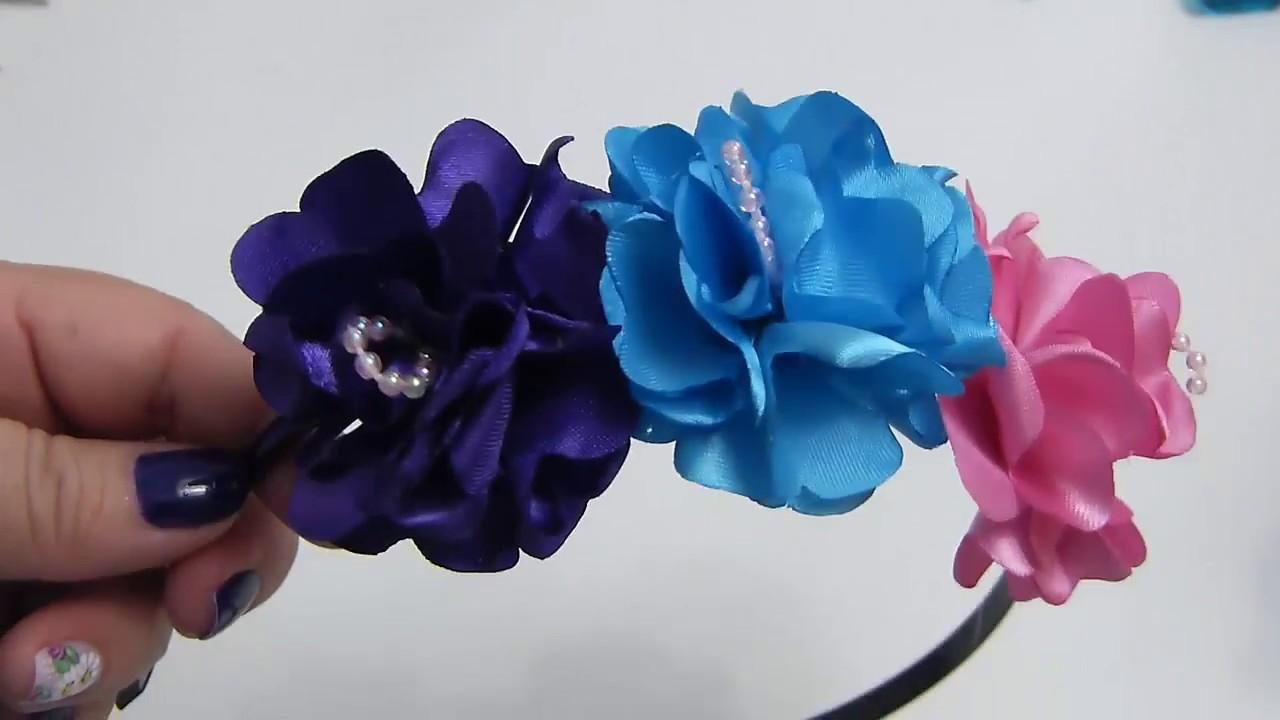 Diy Corona De Flores Para El Pelo Corona De Flores Para Ninas En Tela