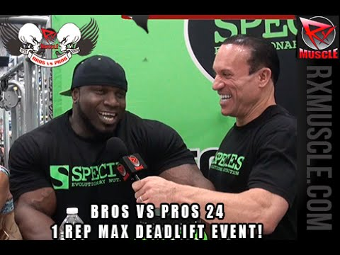 BROS VS PROS 24 1 REP MAX Deadlift Challenge!