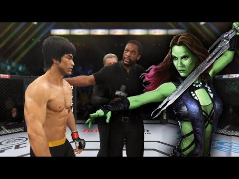 UFC 4   Bruce Lee Vs. Fighter Gamora (Marvel Comics) (EA Sports UFC 4)