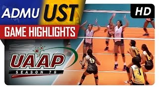 UAAP 78 WV: ADMU vs UST Game Highlights