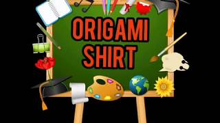 Origami Shirt (Simple Craft Activity for Kids)