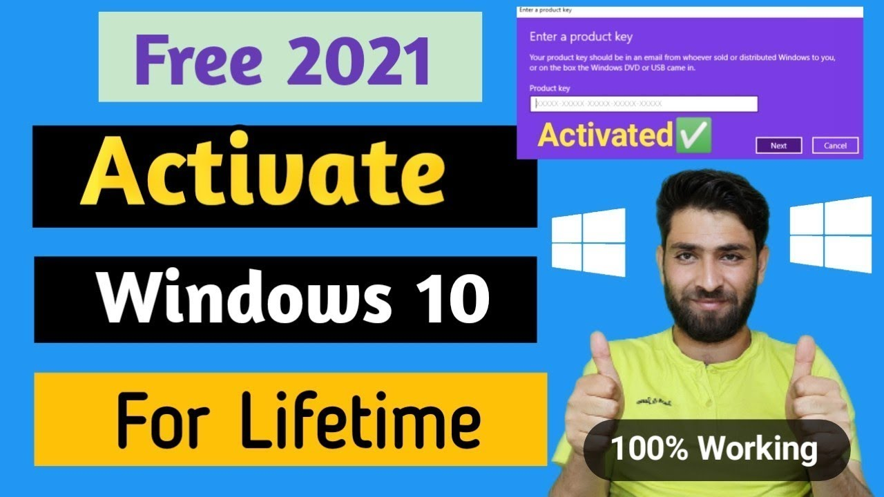 windows 10 pro permanent activation key