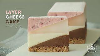 노오븐! 레이어 치즈케이크 만들기 : No-Bake Layer Cheesecake Recipe : レイヤーレアチーズケーキ | Cooking tree