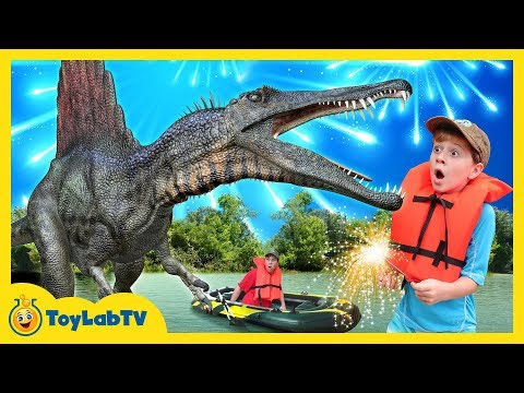 Giant Life Size Spinosaurus Dinosaur Jurassic Adventure & Fun Family Fireworks Outdoor Celebration