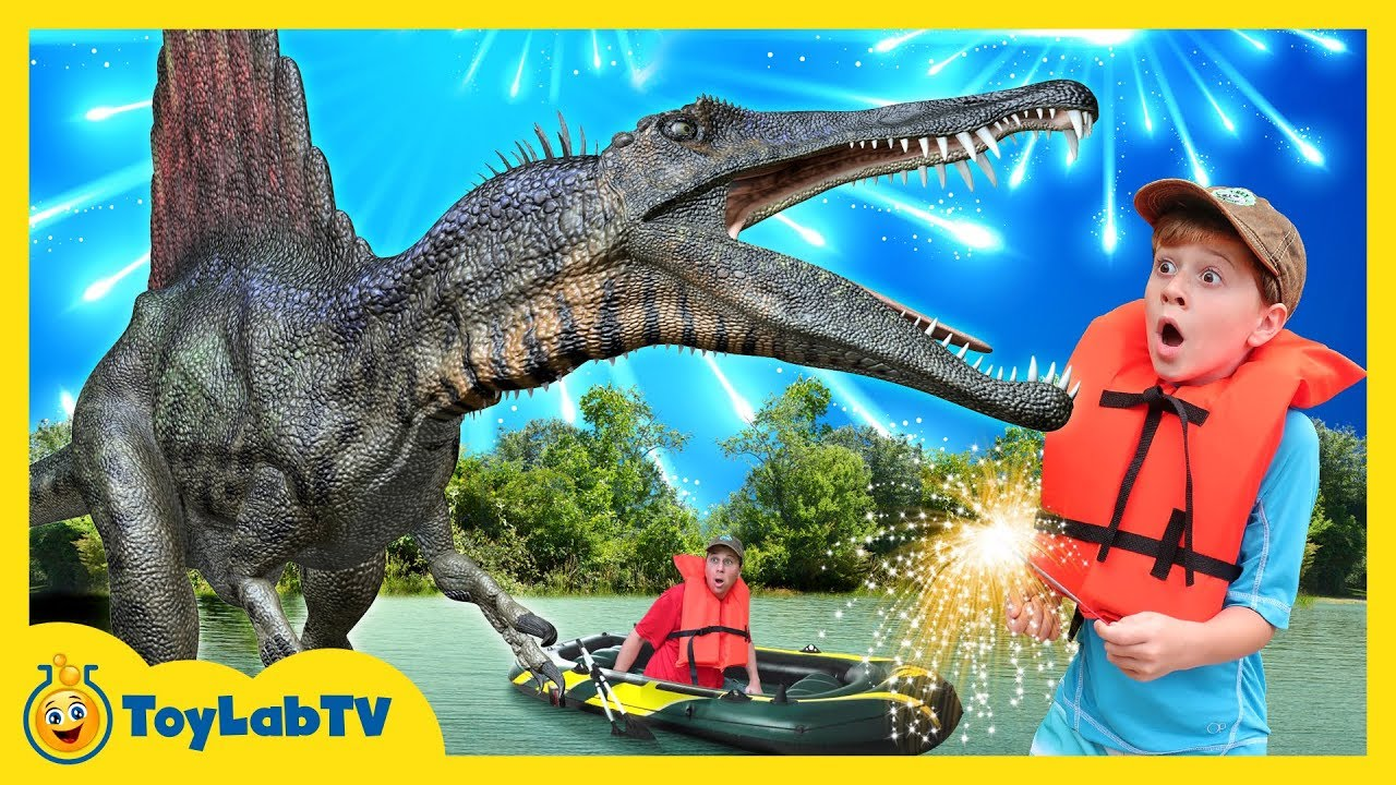 Giant Life Size Spinosaurus Dinosaur Jurassic Adventure & Fun Family Fireworks Outdoor Celebration