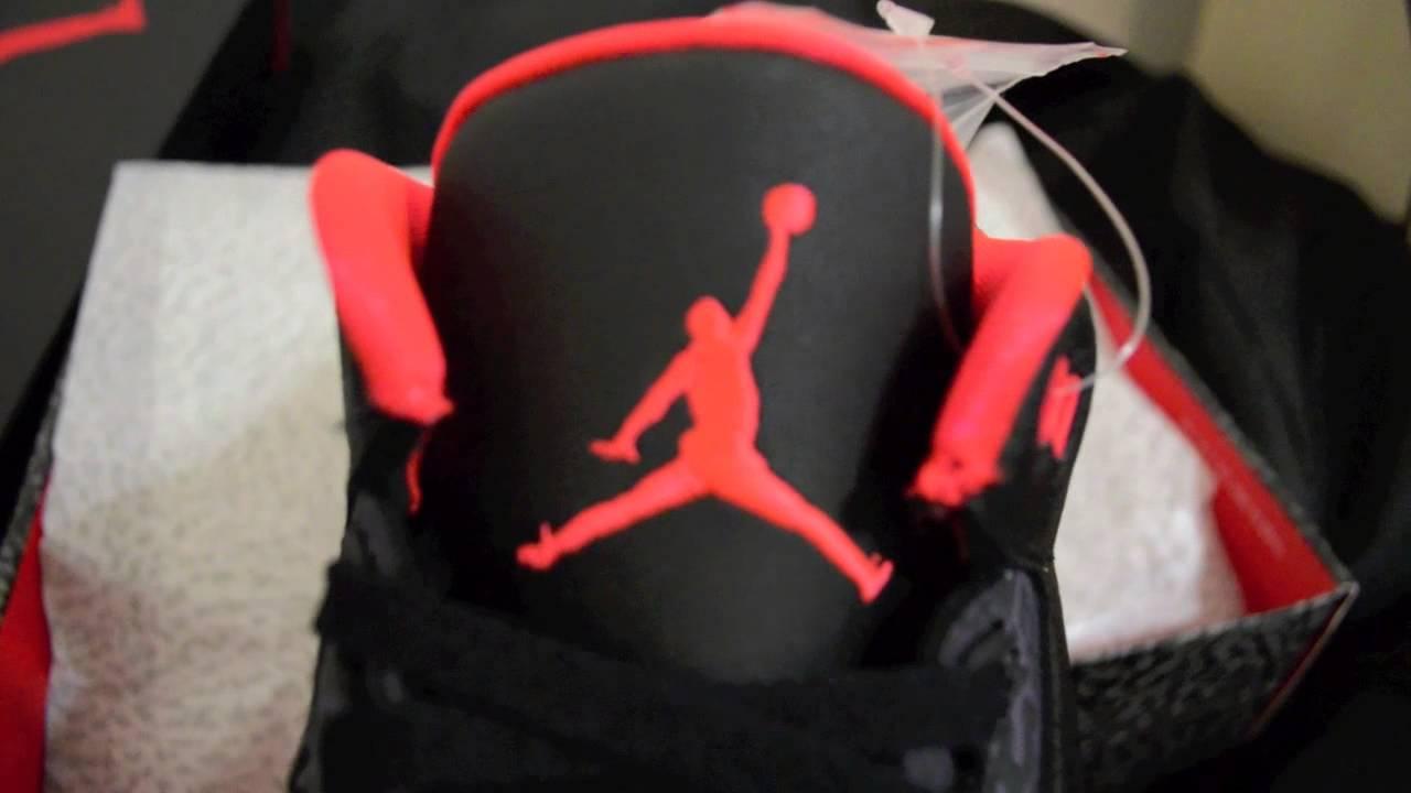 174531bd56433b Air Jordan 3 Retro Bright Crimson New Colorway 3M Review - YouTube