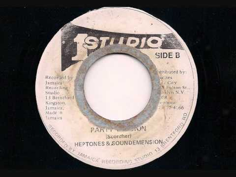 "The HEPTONES - 'Party Time' + Version - JA Studio One 7"" 1972 45rpm"
