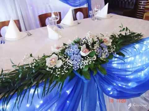 Cмотреть онлайн Оформление свадьбы в синем цвете
