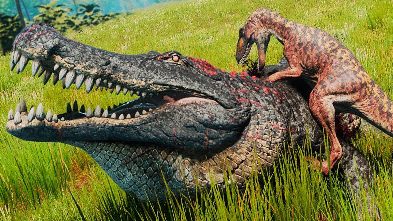 Rastreando Comida! Vida de Utahraptor! Batalha Contra o Grande Deinosuchus | The Isle Evrima | PT/BR