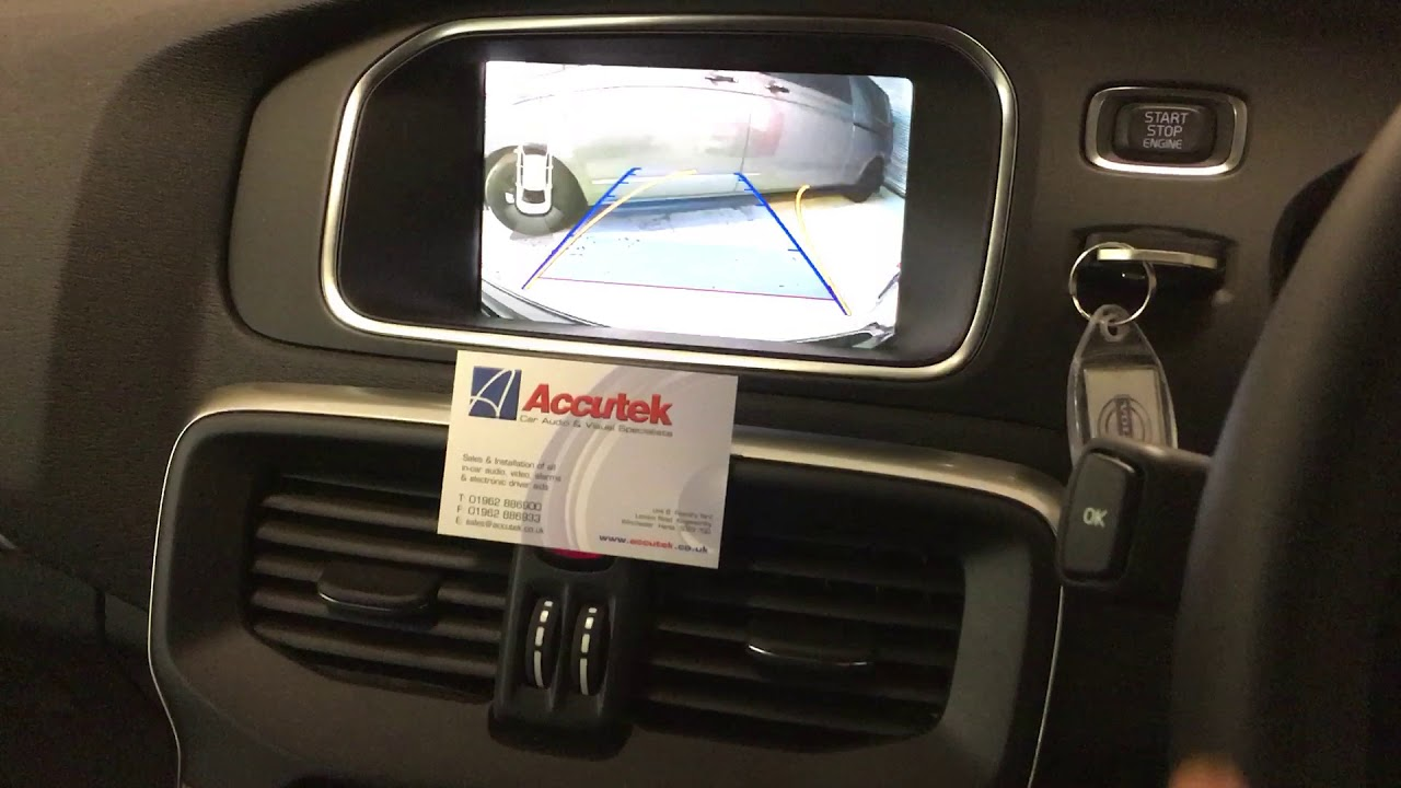 Volvo V40 2017 Rear View Camera Integration With Active Parking Lines