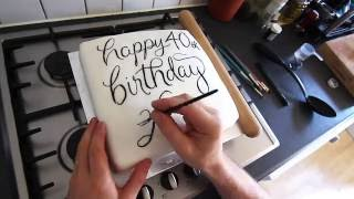 Birthday Cake Calligraphy | Letter Everything #08