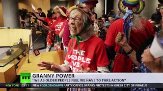 Video 'Seattle Raging Grannies' stage rocking-chair protest to stop Arctic drilling download MP3, 3GP, MP4, WEBM, AVI, FLV Maret 2018