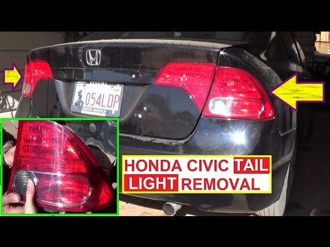 Honda Civic Tail Light Removal and Replacement 2006 2007 2008 2009 2010 2011