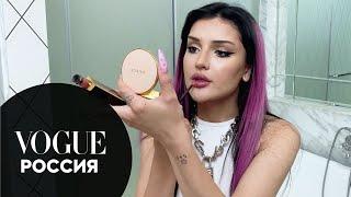Дина Саева показывает макияж с акцентом на глаза Vogue Россия