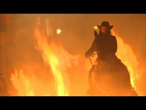 euronews (en français): En Espagne, des chevaux traversent le feu
