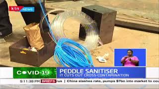 Peddle sanitizer: Smart innovation against Covid-19
