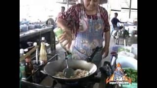 Thai Street Vendor Khao Pad Moo Sai Khai, Pork Fried Rice With Egg