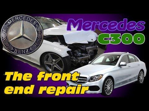 Mercedes C300. Body repair. Ремонт кузова.
