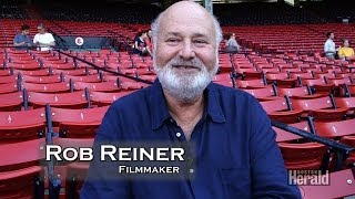Rob Reiner at Fenway park talking new movie And So It Goes