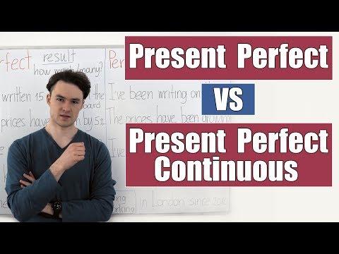 Present perfect и present perfect continuous видеоурок