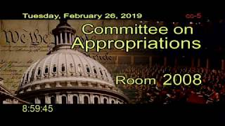 Peggy Shepard (at 1:23:05) at the House Committee on Appropriations Hearing on February 26, 2019