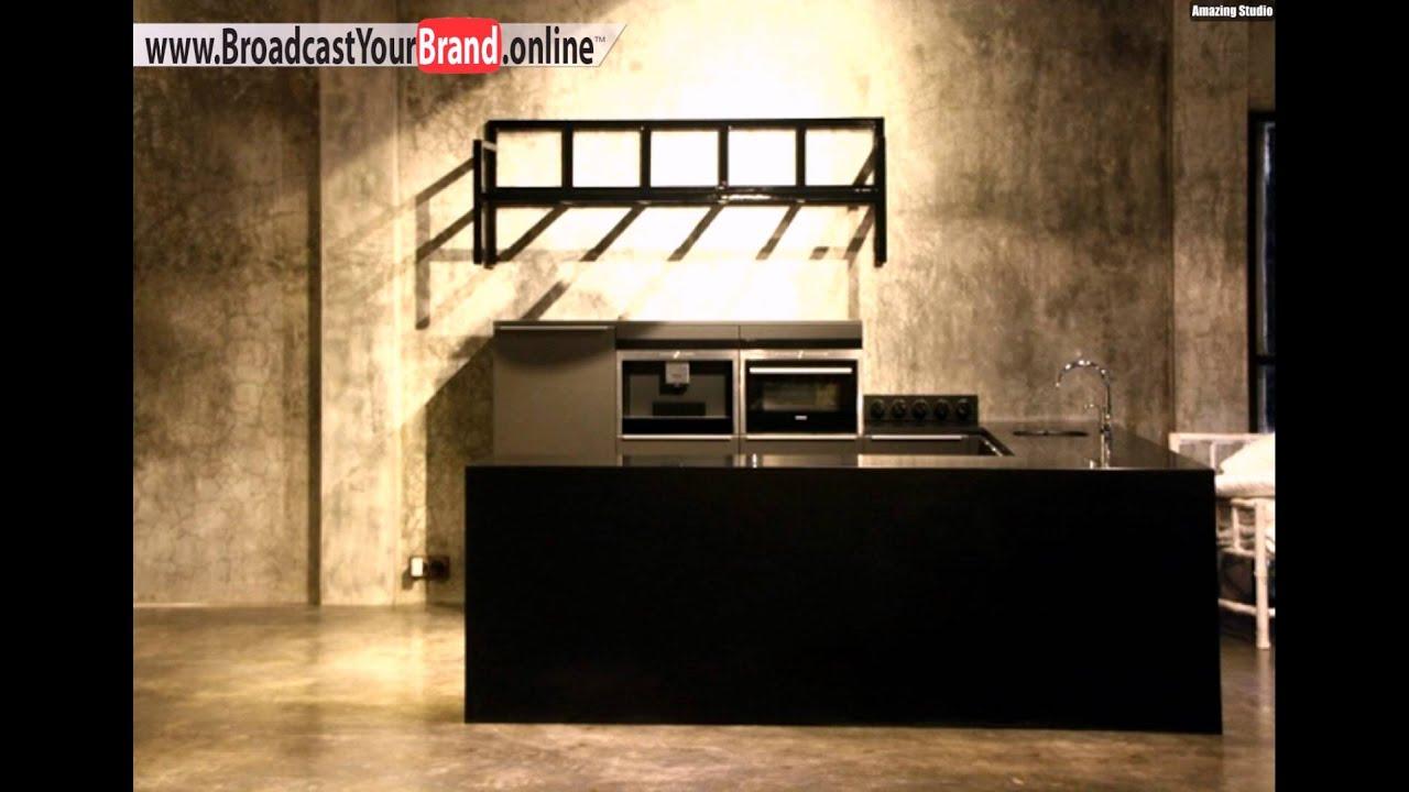 Showroom Interieur Design Studio Küche Schwarz - Youtube Dunkle Fliesen Wohnzimmer Modern