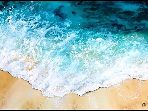 Ocean Water in Watercolors Painting Tutorial