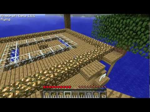 MineCraft: Building a Fishing Trawler in the Ocean - Cool House Design Tutorial