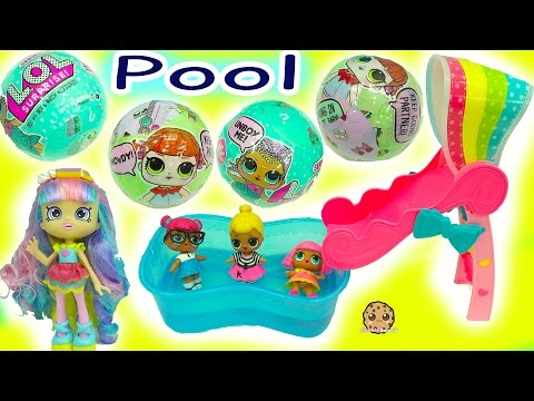 Shoppies Babysitting Bad Babies at Pool LOL Surprise Baby Dolls In Blind Bag Ball Pee, Cry, or Spit?