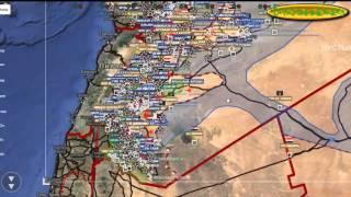 Обзор карты боевых действий в Сирии и Ираке от 12 01 2016г