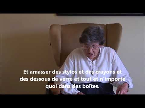 Warning read by Jenny Joseph with French subtitles
