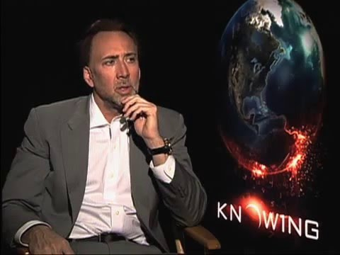 Nicolas Cage - Interview for 'Knowing' (2009)