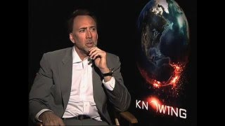 Nicolas Cage Interview for 'Knowing' (2009)