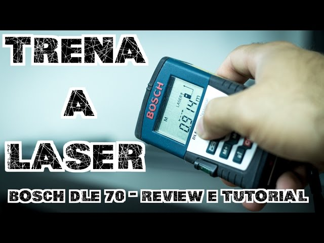 Trena a laser bosch dle review e tutorial youtube