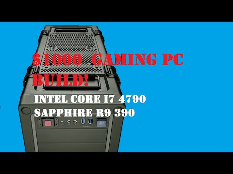 $1000 PC build for a friend! | 1080p ultra & VR capable