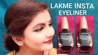 LAKME INSTA LINER BLACK DEMO & REVIEW | AFFORDABLE EYELINER FOR DAILY USE | RARA |