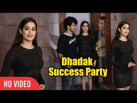 Gorgeous Jhanvi Kapoor With Ishaan Khattar At Dhadak Success Party | Viralbollywood