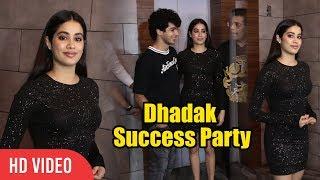 Gorgeous Jhanvi Kapoor With Ishaan Khattar At Dhadak Success Party   Viralbollywood