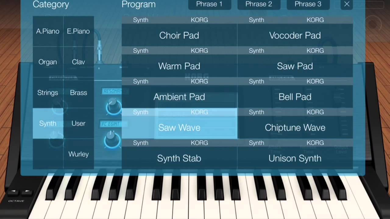 korg module for ipad synth youtube. Black Bedroom Furniture Sets. Home Design Ideas
