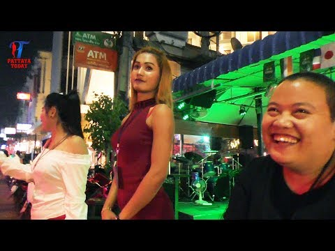 Night walk along the soi 8 Beach Road, #Pattaya, February 2018, Vlog 212