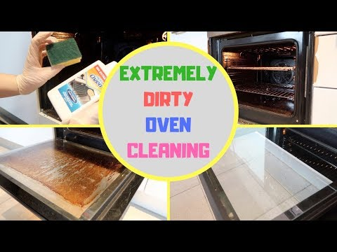 EXTREMELY DIRTY OVEN CLEANING || Kitchen Organize Part 5