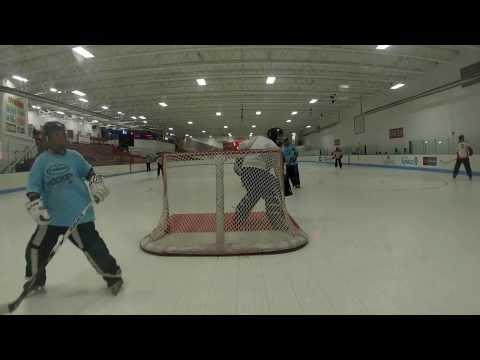 Roller Hockey Game Goalie Highlights