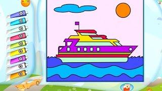 Транспорт для детей. Игра - Раскраска. Развивающее детское приложение