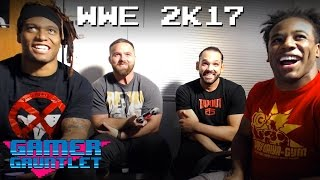 NXT's TYE DILLINGER, DASH WILDER & BRENNAN WILLIAMS play WWE 2K17 w/ Austin Creed! — Gamer Gauntlet