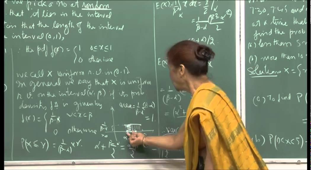 Mod-01 Lec-08 Continuous random variables and their distributions.